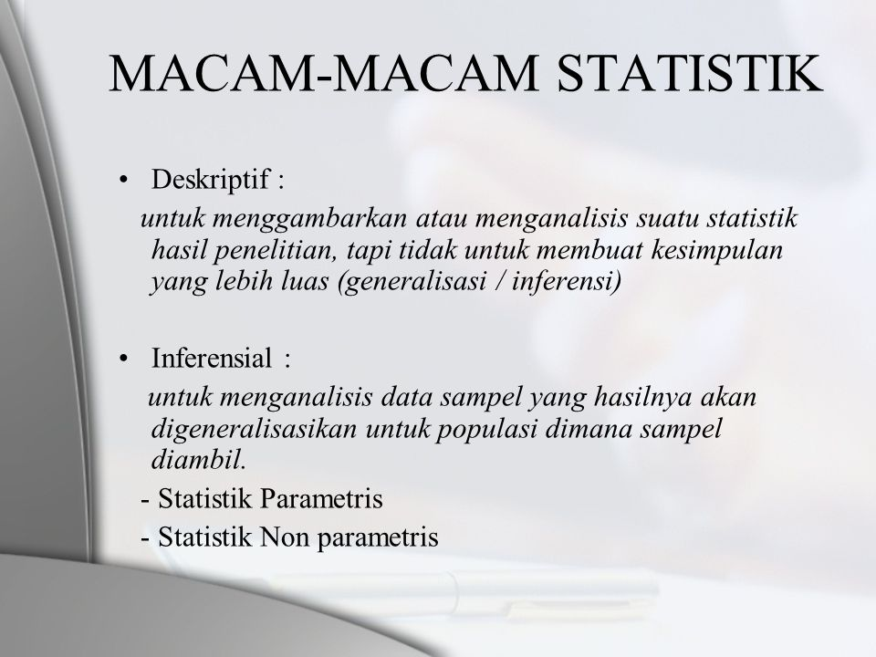 MACAM-MACAM STATISTIK