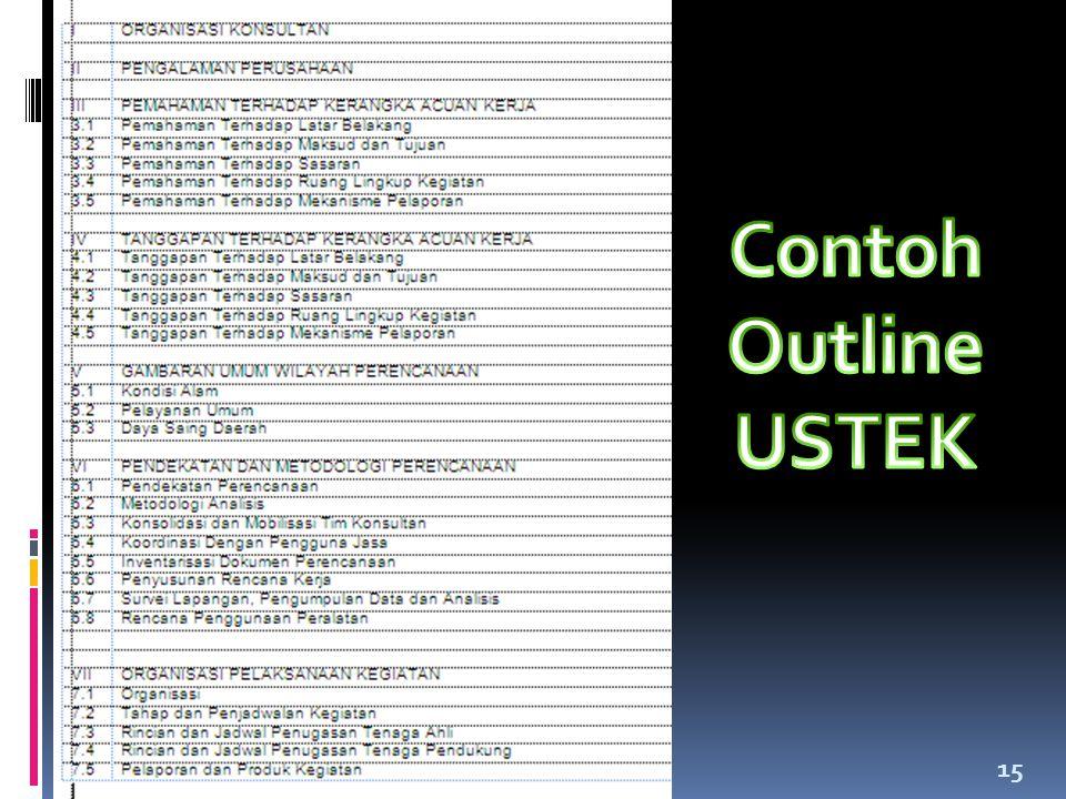 Contoh Outline USTEK