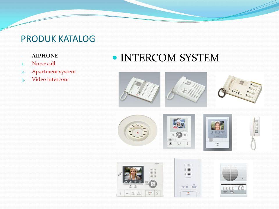 INTERCOM SYSTEM PRODUK KATALOG AIPHONE Nurse call Apartment system