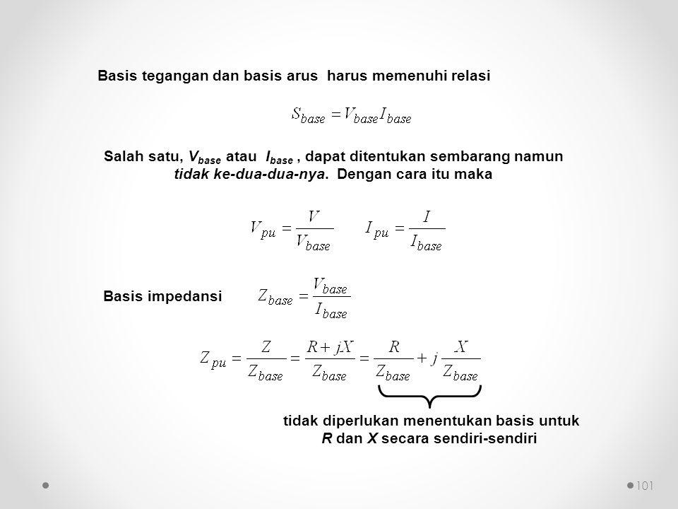tidak diperlukan menentukan basis untuk R dan X secara sendiri-sendiri