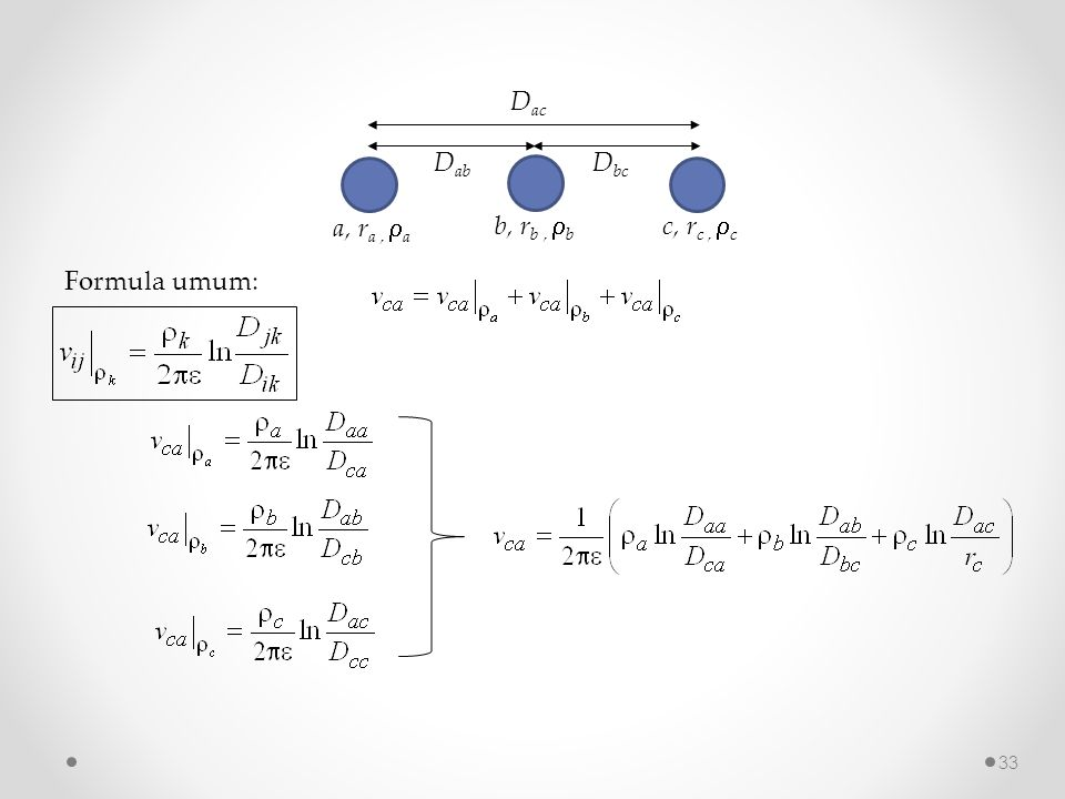 Dab a, ra , a Dac Dbc c, rc , c b, rb , b Formula umum: