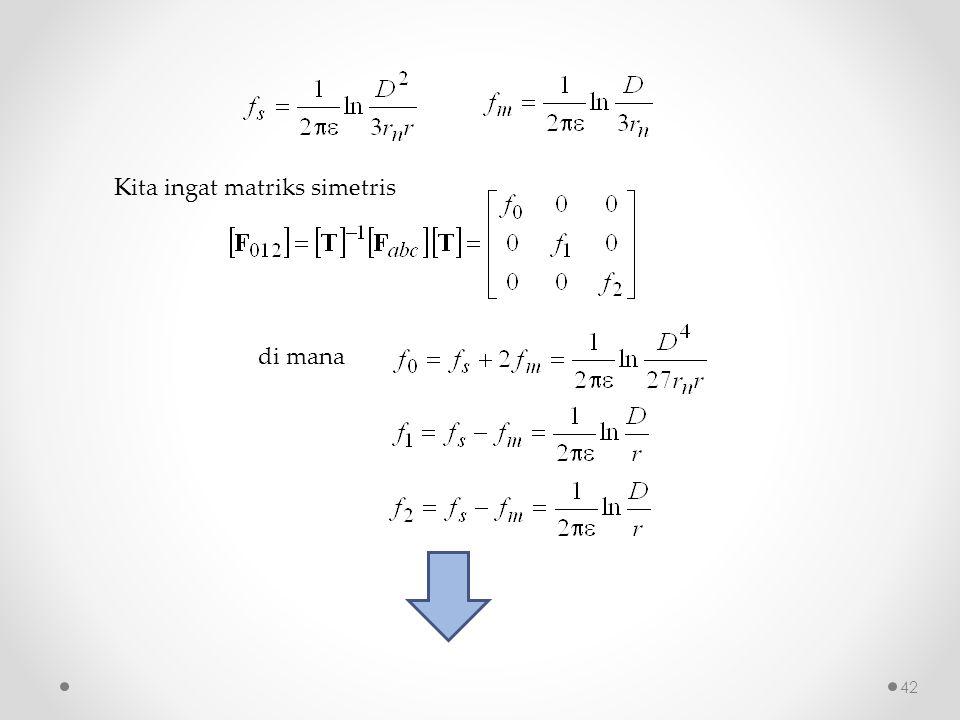 Kita ingat matriks simetris