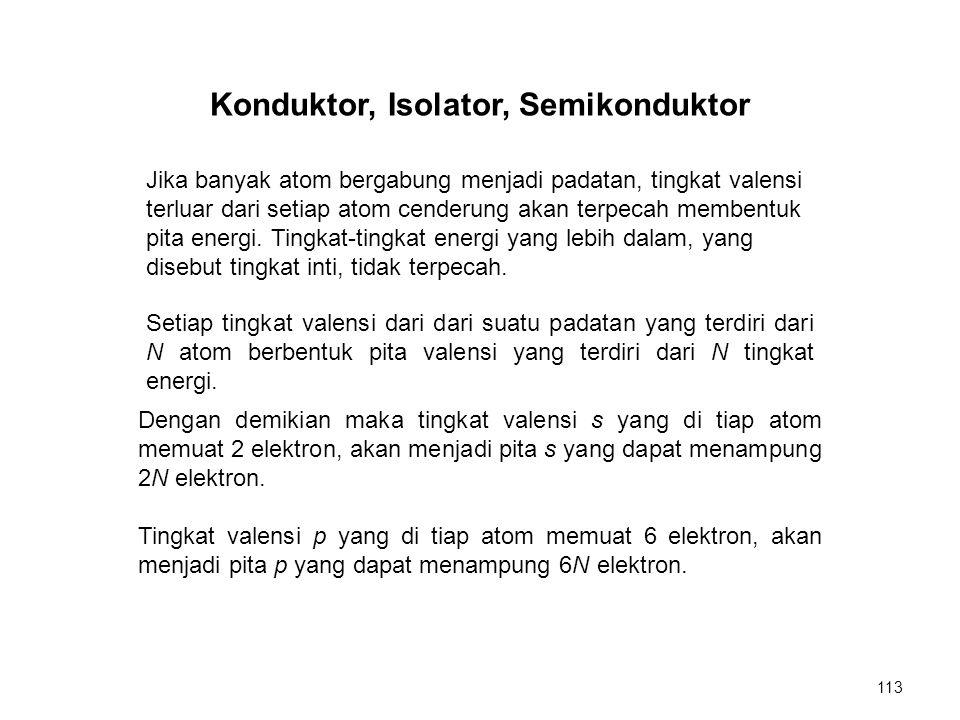 Konduktor, Isolator, Semikonduktor