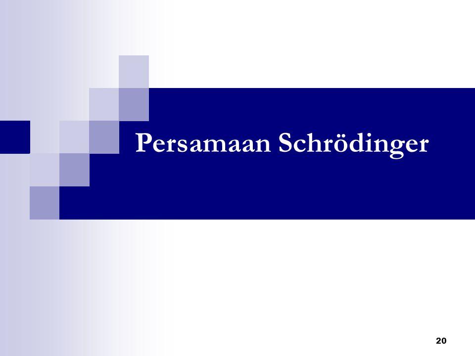 Persamaan Schrödinger