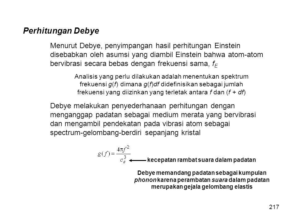 Perhitungan Debye