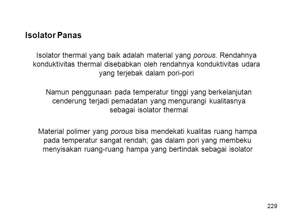 Isolator Panas