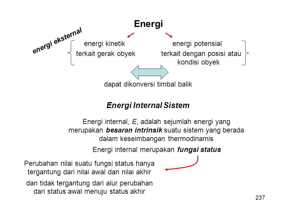 Energi Energi Internal Sistem energi eksternal