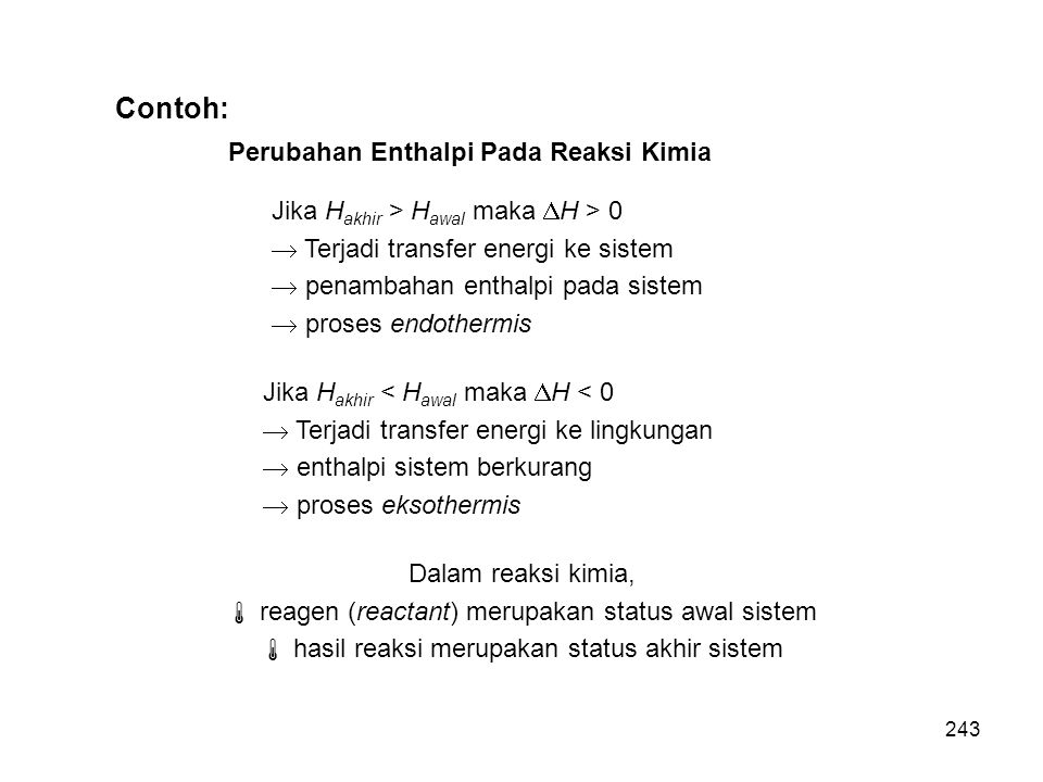 Contoh: Perubahan Enthalpi Pada Reaksi Kimia