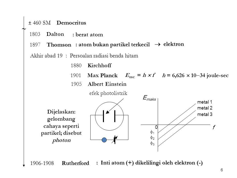 Dijelaskan: gelombang cahaya seperti partikel; disebut photon