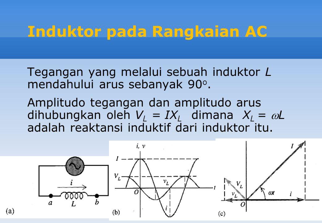 Induktor pada Rangkaian AC