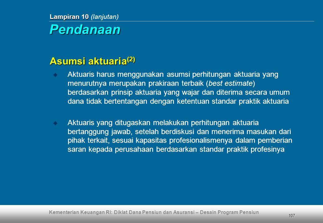 Pendanaan Asumsi aktuaria(2)
