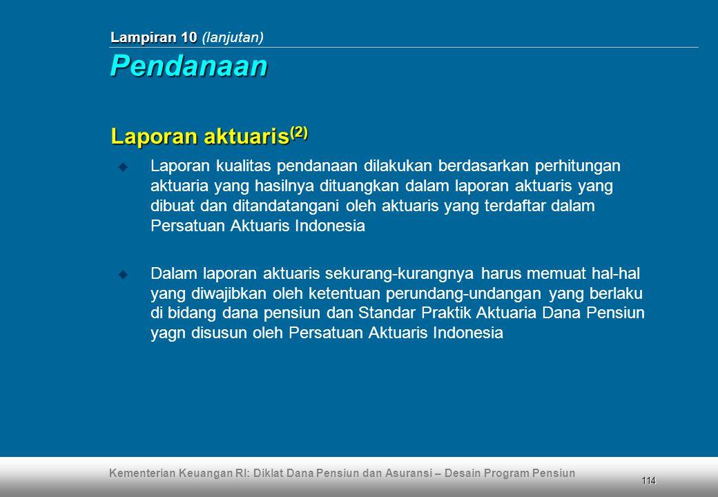 Pendanaan Laporan aktuaris(2)
