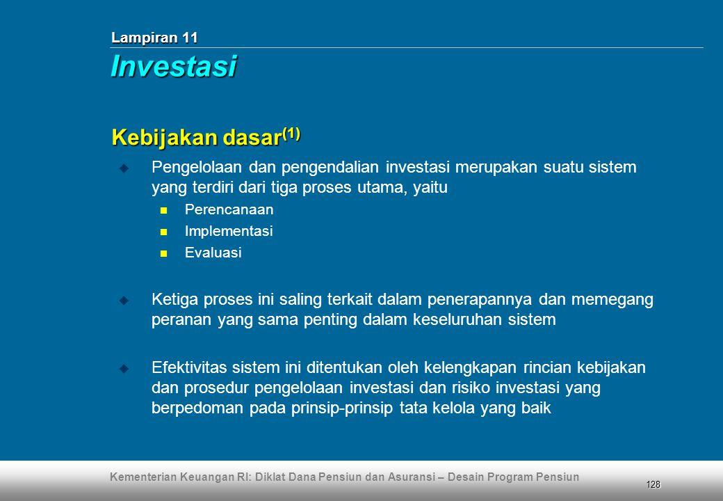 Investasi Kebijakan dasar(1)