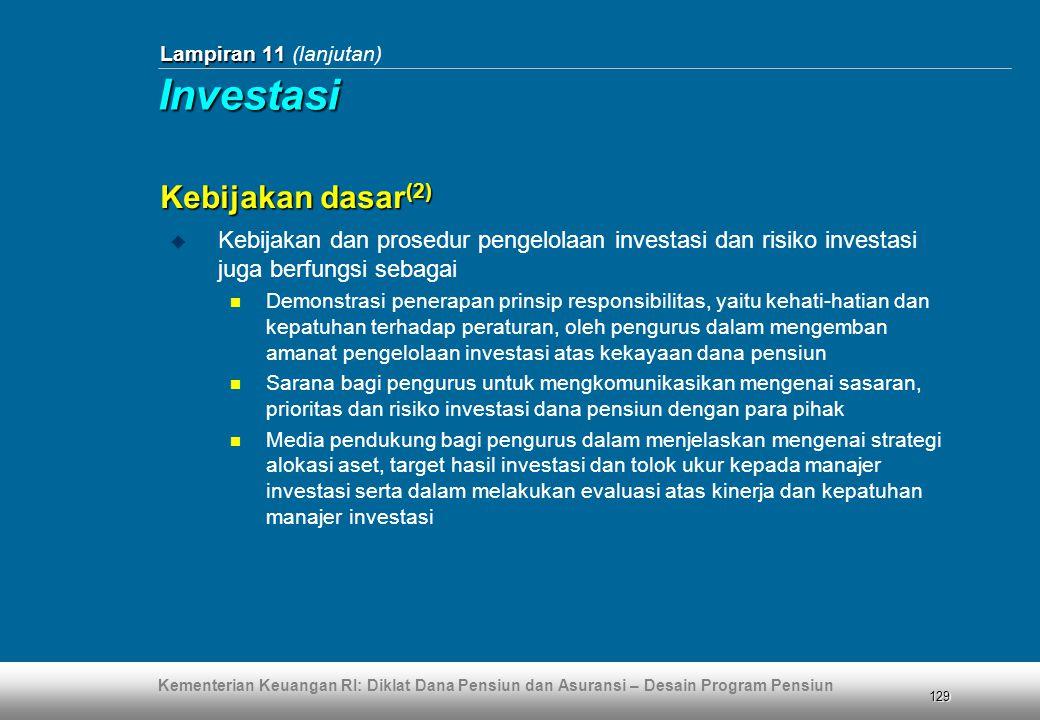 Investasi Kebijakan dasar(2)
