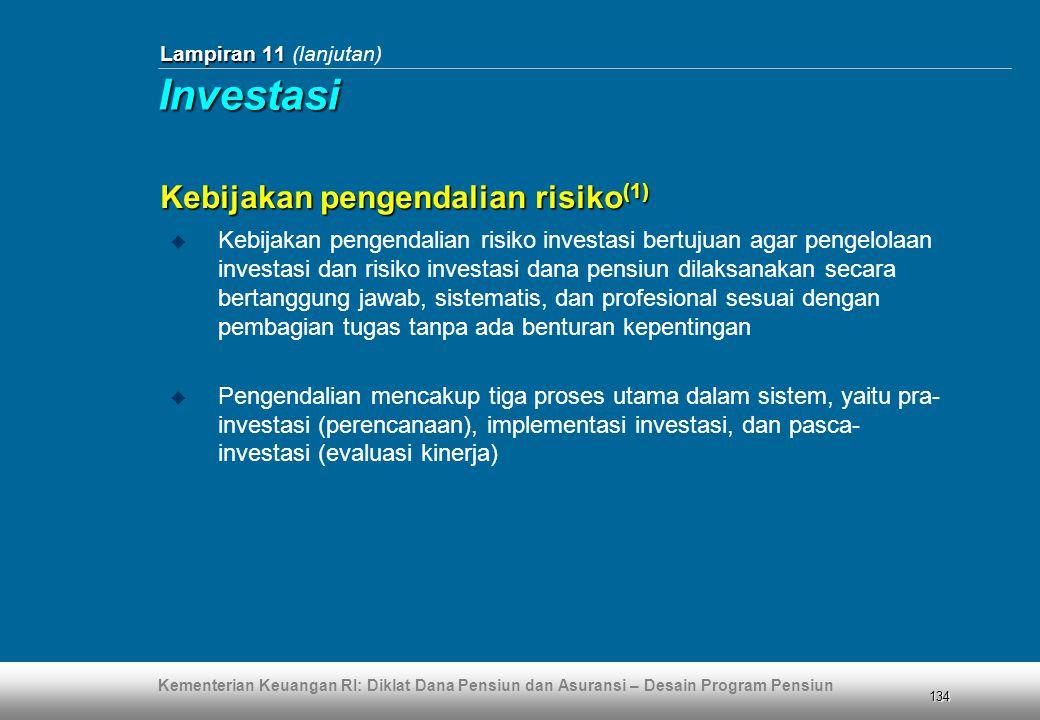 Investasi Kebijakan pengendalian risiko(1)