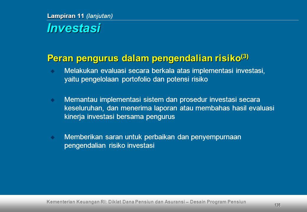 Investasi Peran pengurus dalam pengendalian risiko(3)