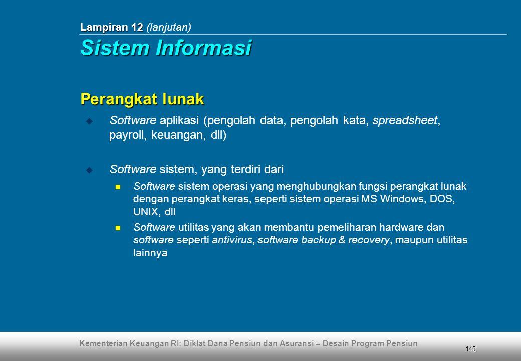 Sistem Informasi Perangkat lunak