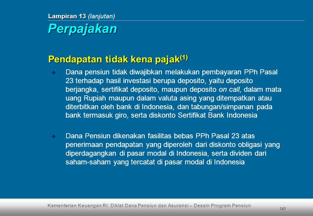 Perpajakan Pendapatan tidak kena pajak(1)