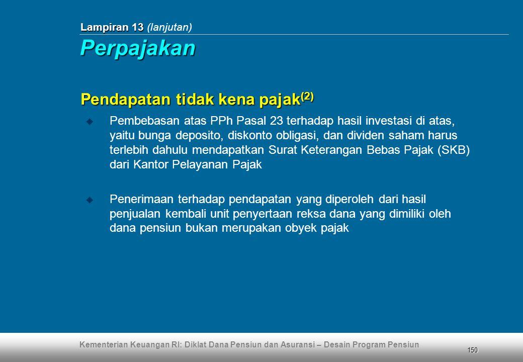 Perpajakan Pendapatan tidak kena pajak(2)