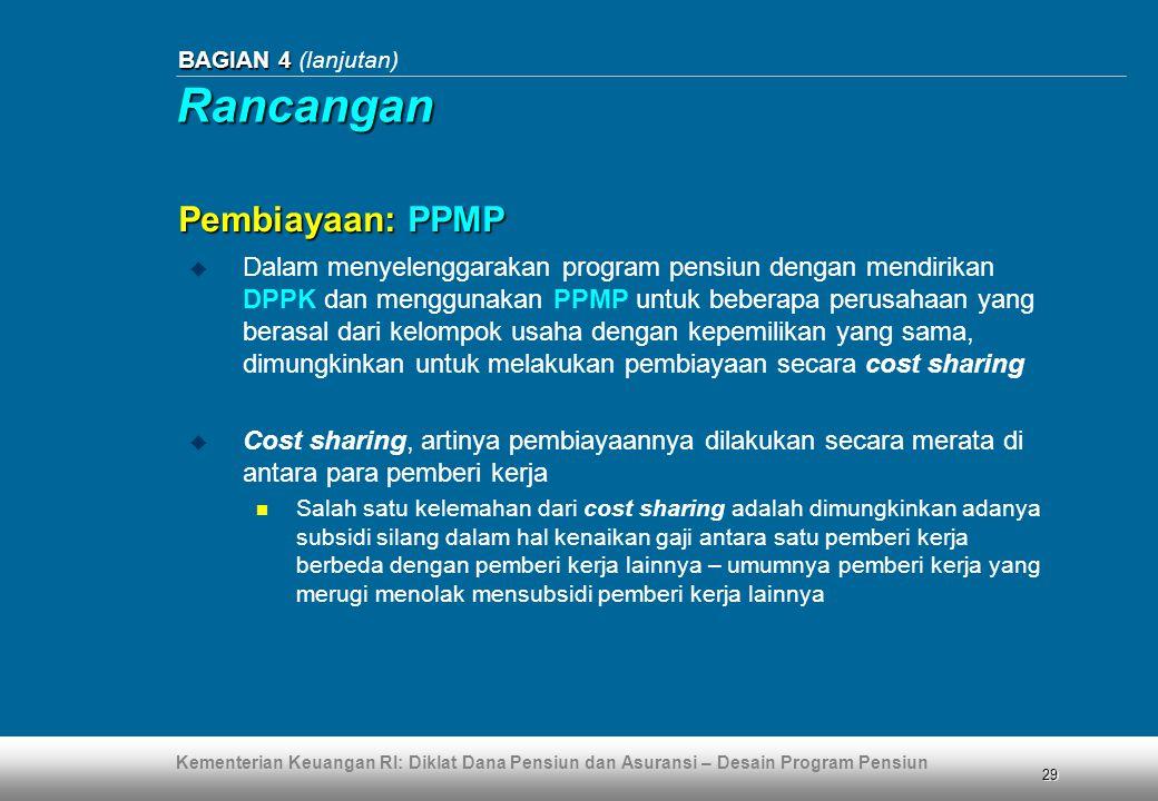 Rancangan Pembiayaan: PPMP
