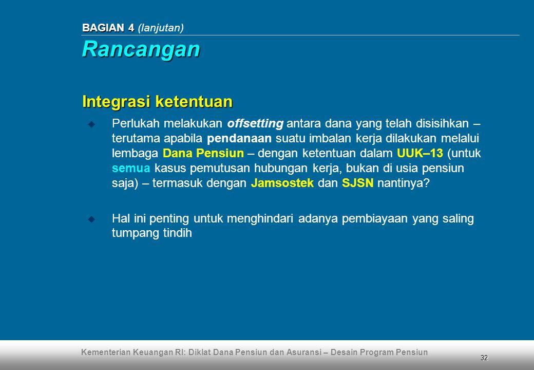 Rancangan Integrasi ketentuan