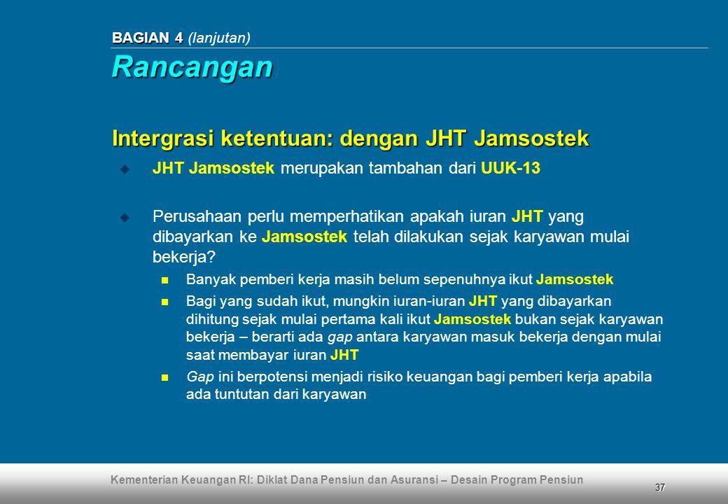Rancangan Intergrasi ketentuan: dengan JHT Jamsostek