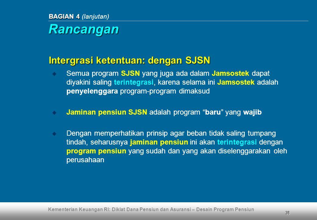Rancangan Intergrasi ketentuan: dengan SJSN