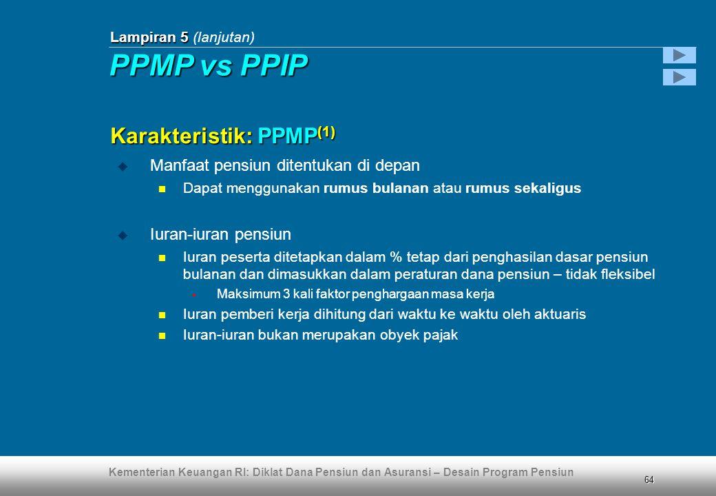 PPMP vs PPIP Karakteristik: PPMP(1)