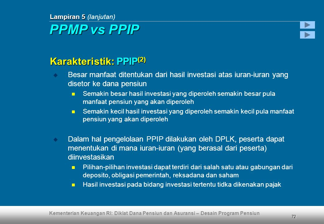 PPMP vs PPIP Karakteristik: PPIP(2)
