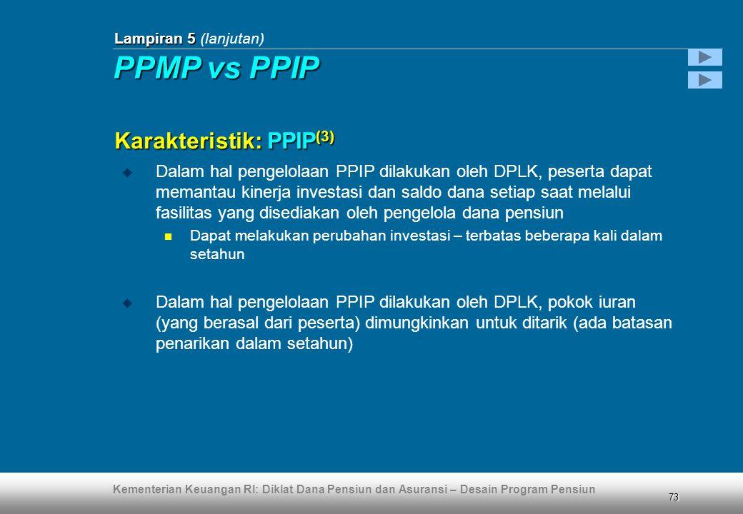 PPMP vs PPIP Karakteristik: PPIP(3)