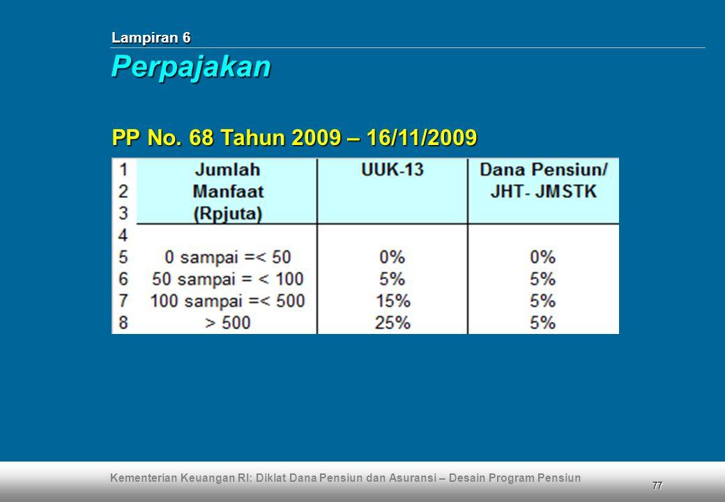 Lampiran 6 Perpajakan PP No. 68 Tahun 2009 – 16/11/2009