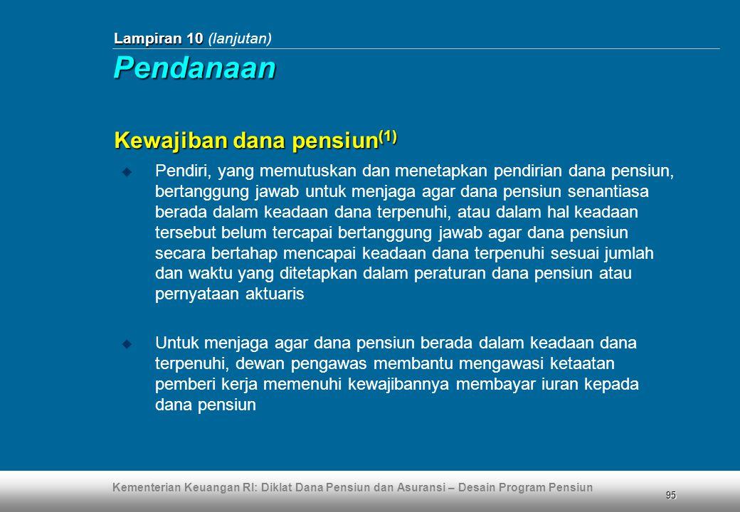 Pendanaan Kewajiban dana pensiun(1)