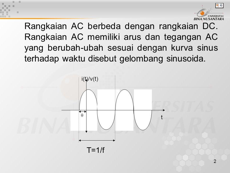 Rangkaian AC berbeda dengan rangkaian DC