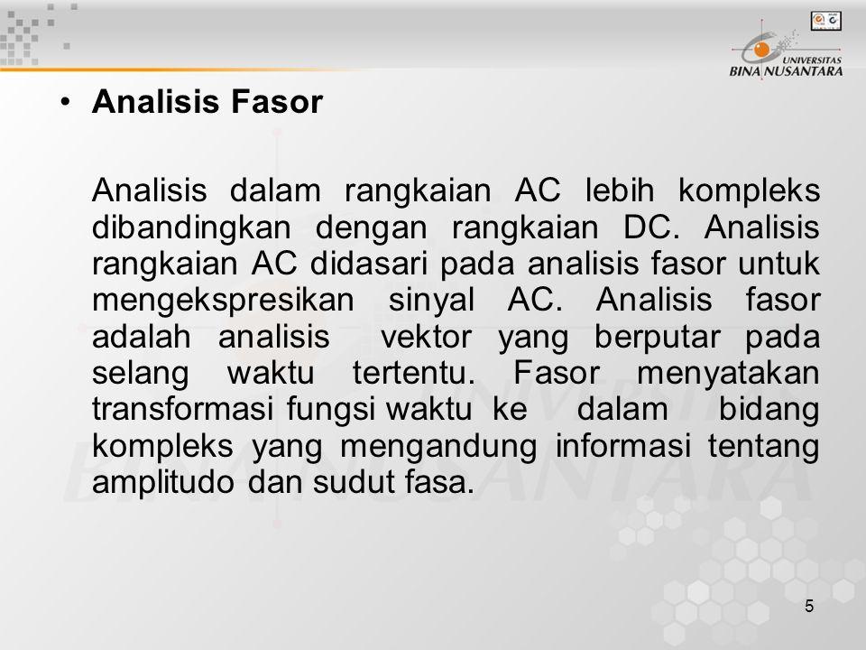 Analisis Fasor