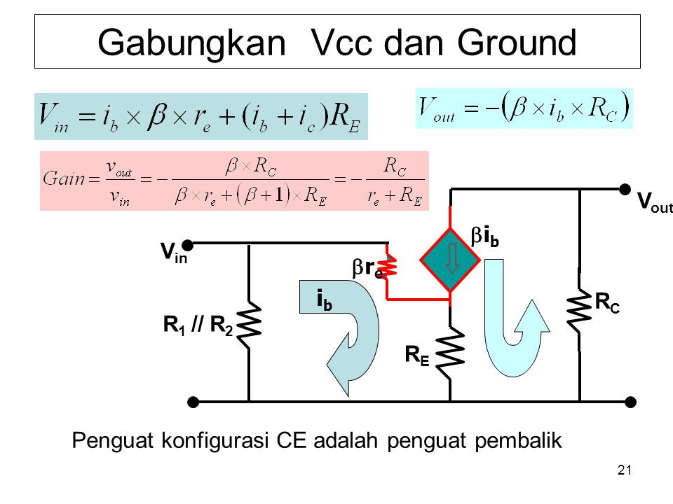 Gabungkan Vcc dan Ground