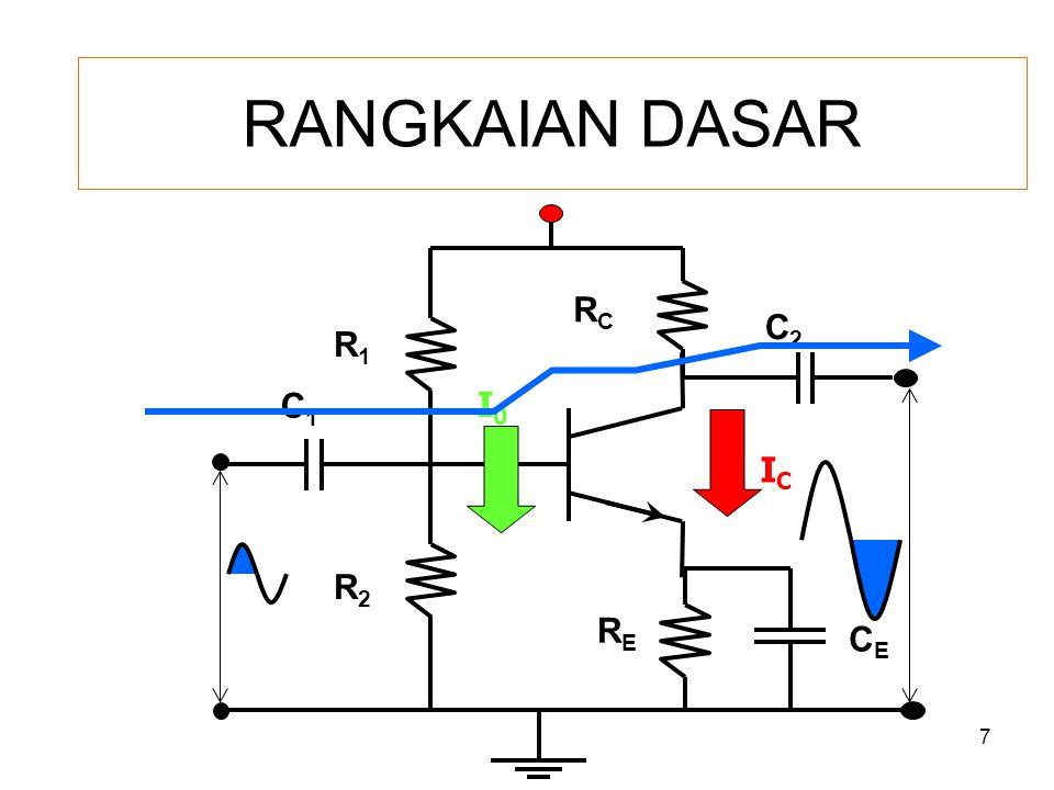 RANGKAIAN DASAR RC C2 R1 C1 I0 IC R2 RE CE