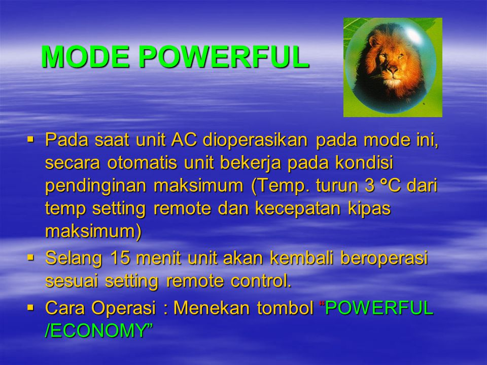 MODE POWERFUL