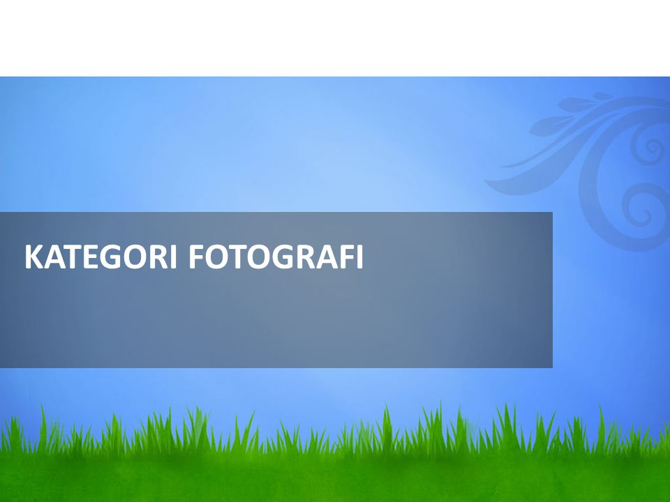 KATEGORI FOTOGRAFI