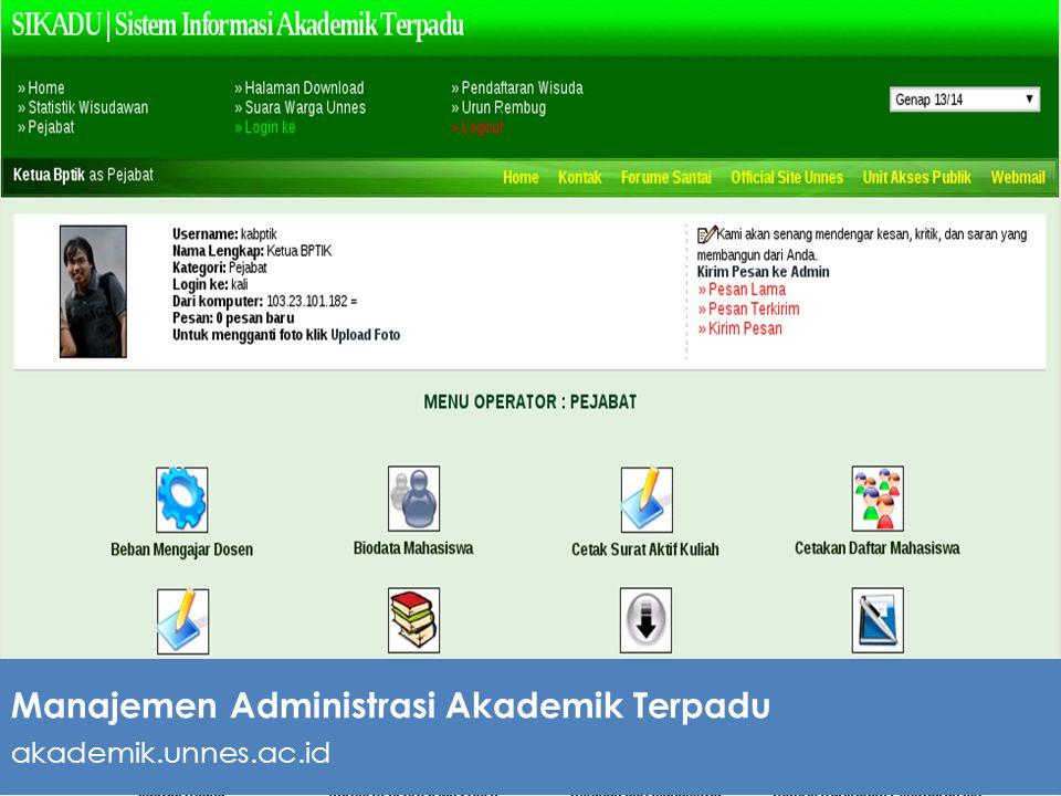 Manajemen Administrasi Akademik Terpadu