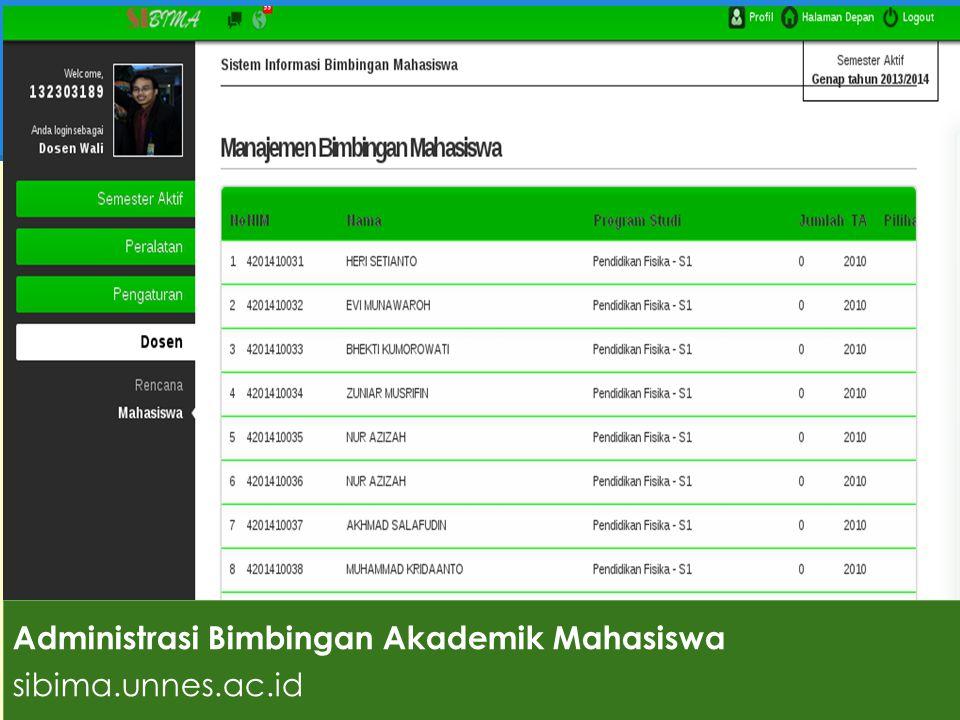 Administrasi Bimbingan Akademik Mahasiswa