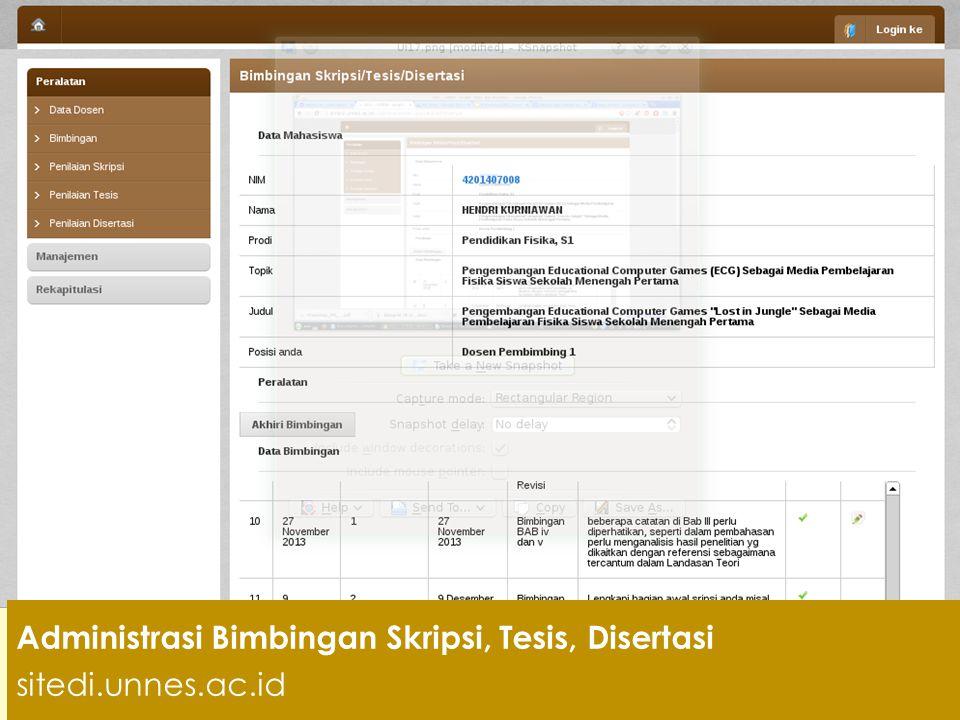 Administrasi Bimb Skripsi, Tesis, Disertasi skripsi.unnes.ac.id