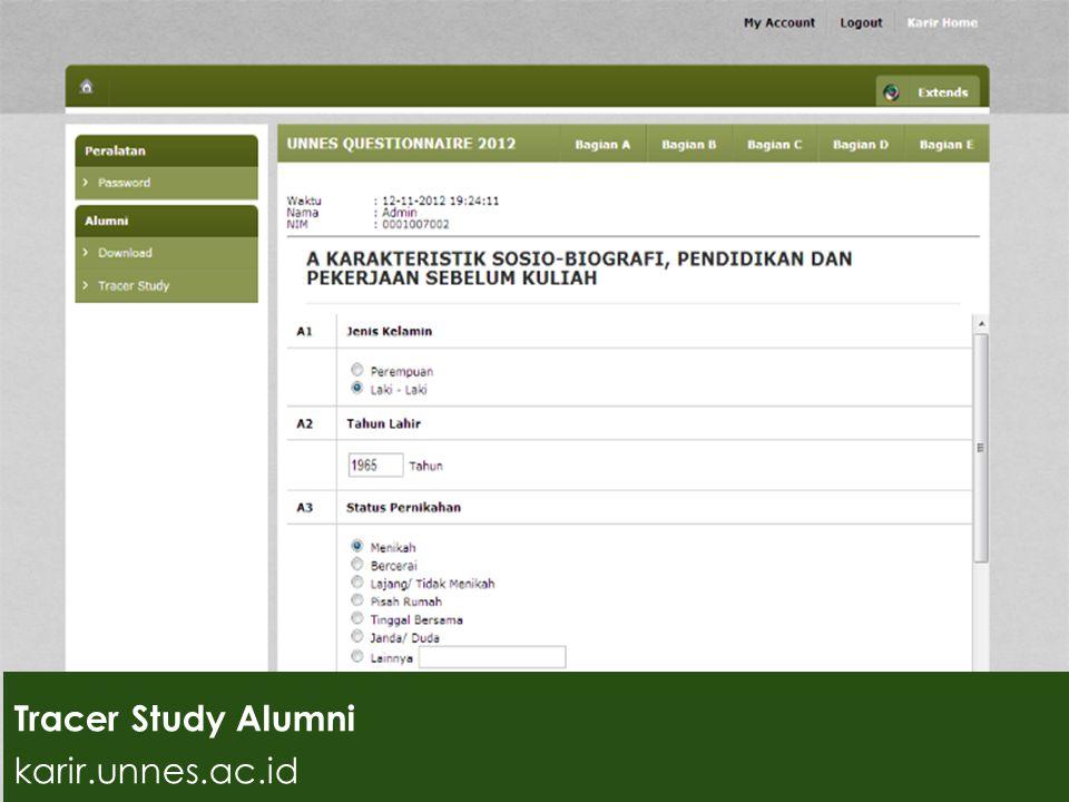 Tracer Study Tracer Study Alumni karir.unnes.ac.id