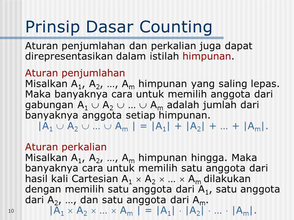 Prinsip Dasar Counting