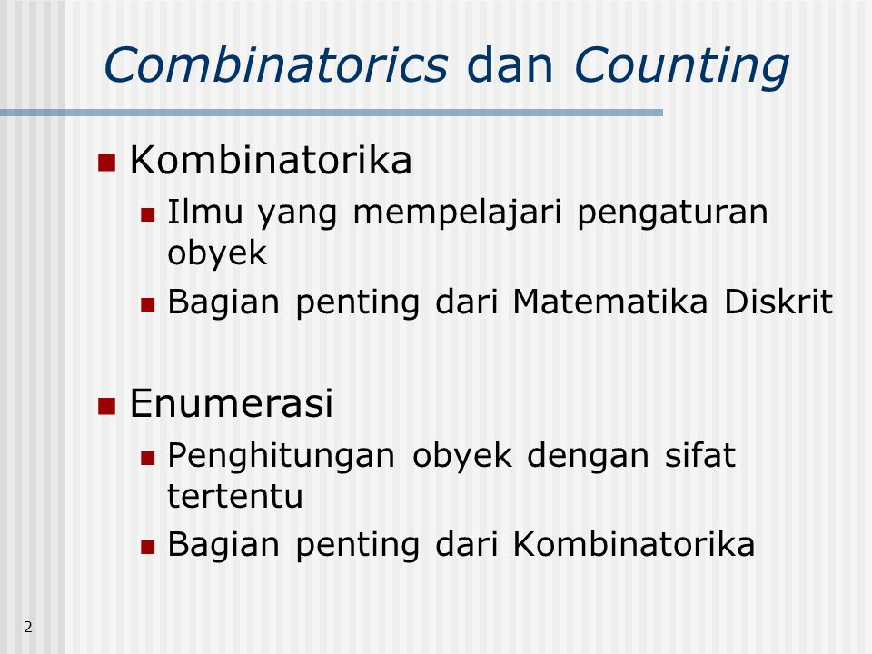 Combinatorics dan Counting