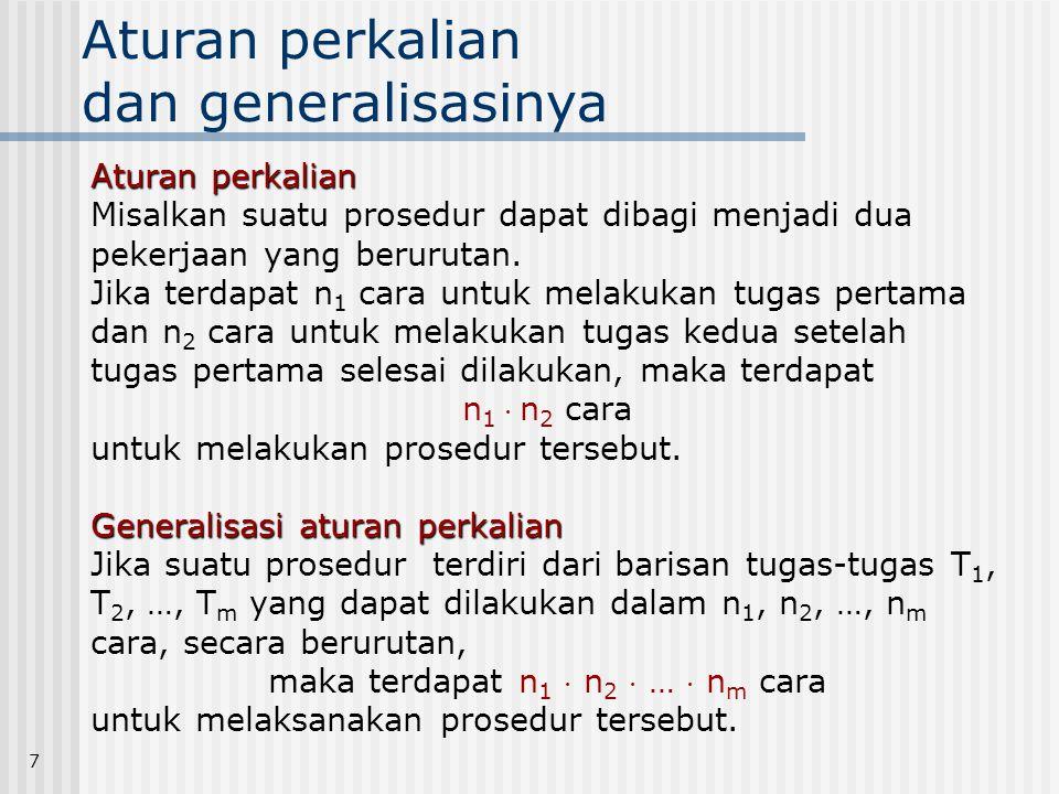 Aturan perkalian dan generalisasinya