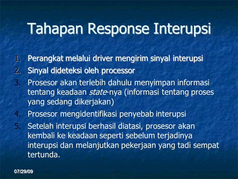 Tahapan Response Interupsi