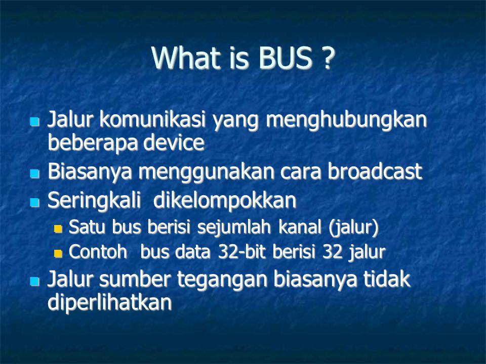 What is BUS Jalur komunikasi yang menghubungkan beberapa device