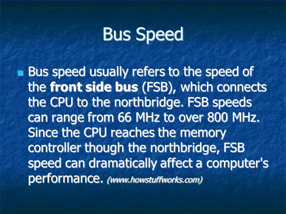 Bus Speed