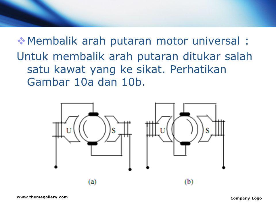 Membalik arah putaran motor universal :