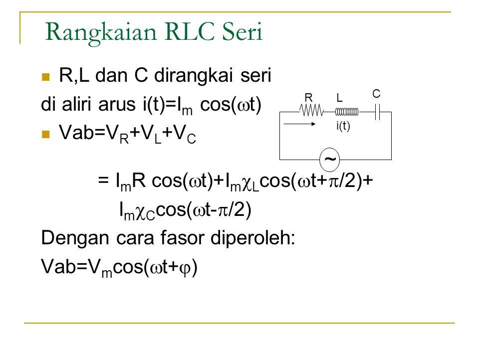 Rangkaian RLC Seri ~ R,L dan C dirangkai seri